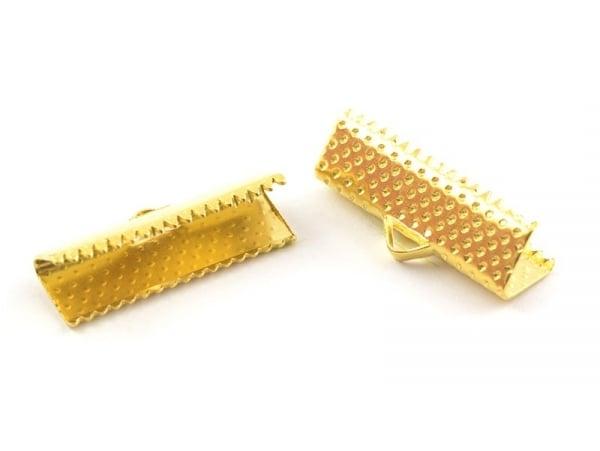 Fermoir griffe 20 mm - dorée