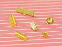 Ribbon clamp (20 mm) - Gold-coloured