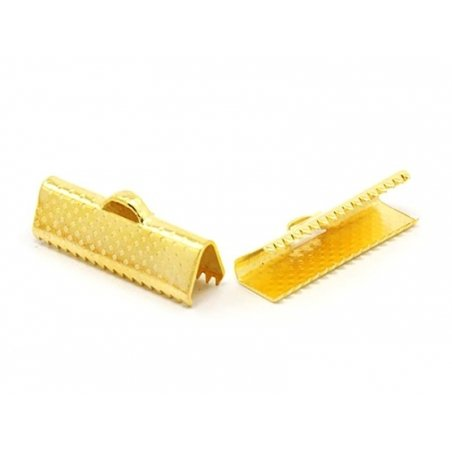 Fermoir griffe 15 mm - dorée  - 1