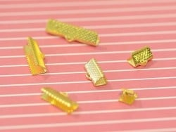 Fermoir griffe 15 mm - dorée