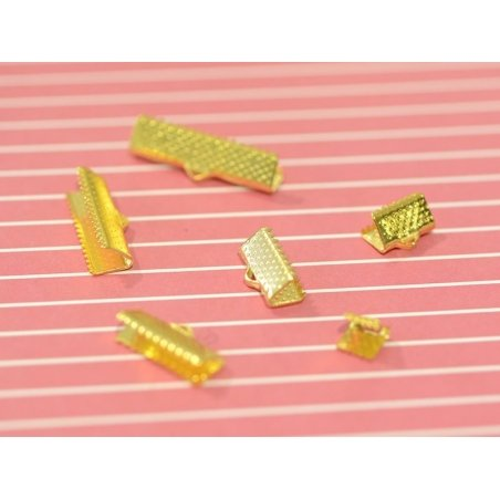 Ribbon clamp (15 mm) - Gold-coloured