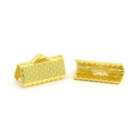 Ribbon clamp (13 mm) - Gold-coloured