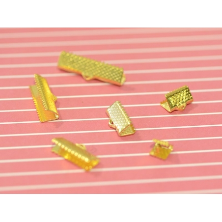 Ribbon clamp (10 mm) - Gold-coloured