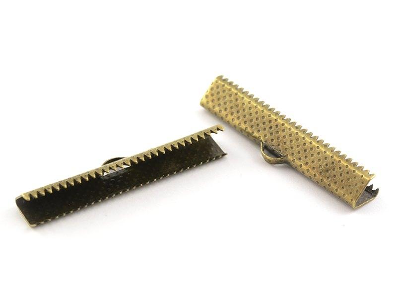Ribbon clamp (35 mm) - Bronze-coloured