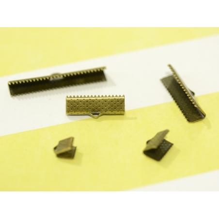 Fermoir griffe 20 mm - bronze