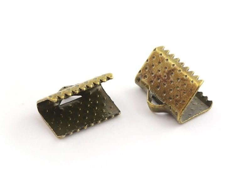 Ribbon clamp (10 mm) - Bronze-coloured