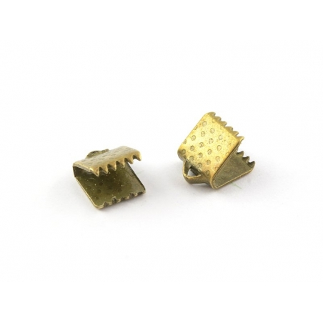 Fermoir griffe 6 mm - bronze  - 1