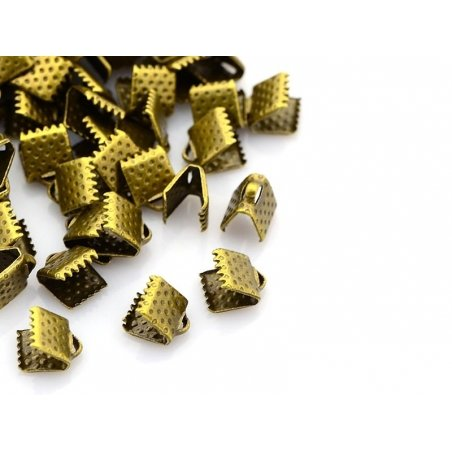 Fermoir griffe 6 mm - bronze  - 2