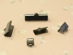 Fermoir griffe 13 mm - métal noir