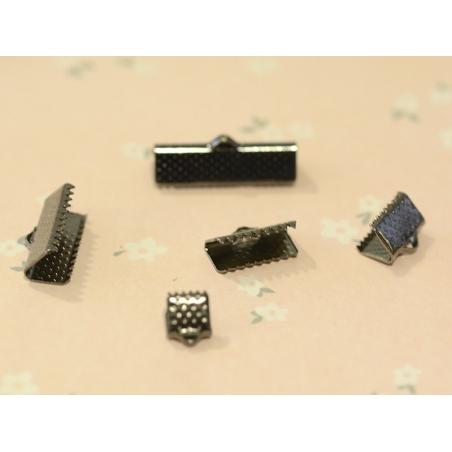 Fermoir griffe 13 mm - métal noir  - 2