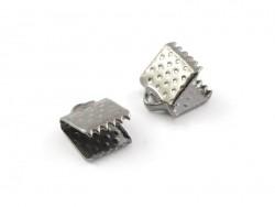 Bandklemme (6 mm) - metallic-schwarz