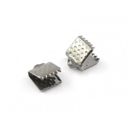 Fermoir griffe 6 mm - métal noir  - 1