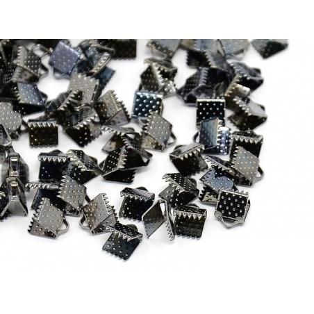 Fermoir griffe 6 mm - métal noir  - 2