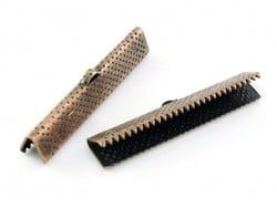 Fermoir griffe 25 mm - cuivre