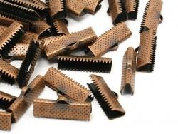 Ribbon clamp (13 mm) - Copper-coloured