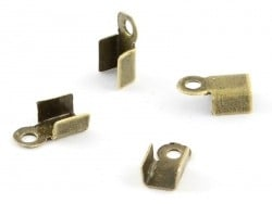 10 crimp end caps - Bronze-coloured