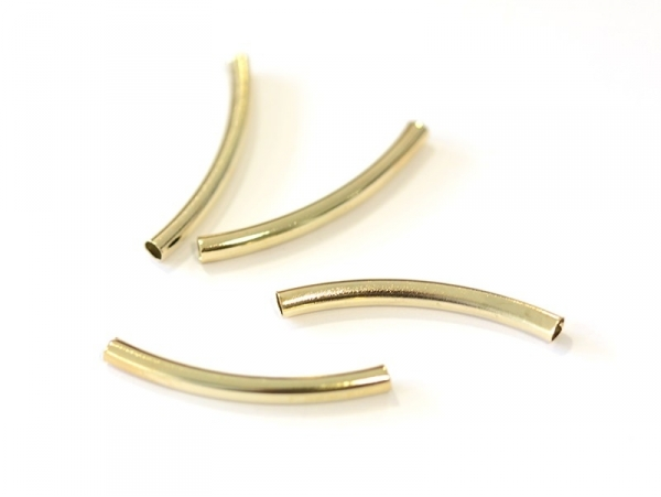Thick, curbed tube (30 mm) - gold-coloured