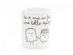"""Mug """"Toi et moi on fait une belle équipe"""" Mr Wonderful  - 1"""