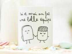 """Mug """"Toi et moi on fait une belle équipe"""""""