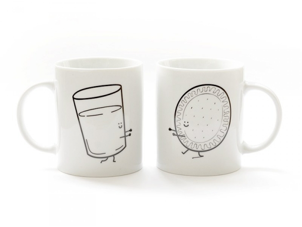 """Lot de 2 Mugs """"Ensemble c'est mieux"""" Mr Wonderful  - 1"""