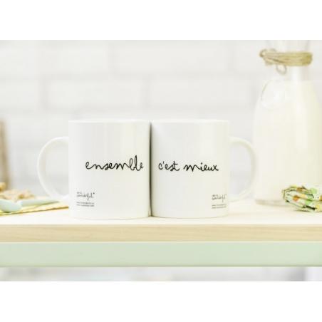 """Lot de 2 Mugs """"Ensemble c'est mieux"""" Mr Wonderful  - 2"""