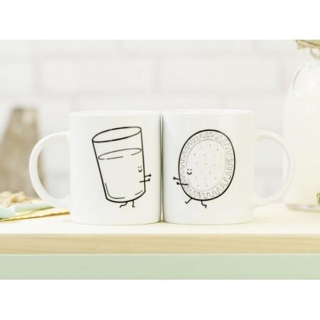 """Lot de 2 Mugs """"Ensemble c'est mieux"""" Mr Wonderful  - 4"""