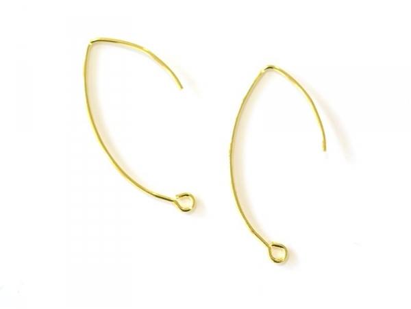 Acheter 1 paire de boucles d'oreilles dormeuses simples - doré - 0,59€ en ligne sur La Petite Epicerie - Loisirs créatifs