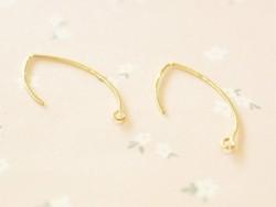 1 pair of plain lever back earrings - gold-coloured