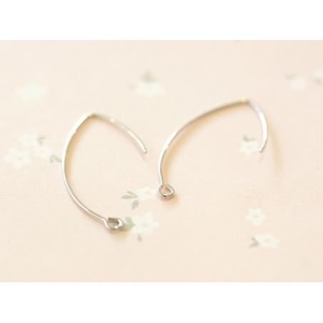 Acheter 1 paire de boucles d'oreilles dormeuses simples - argenté - 0,59€ en ligne sur La Petite Epicerie - 100% Loisirs cré...