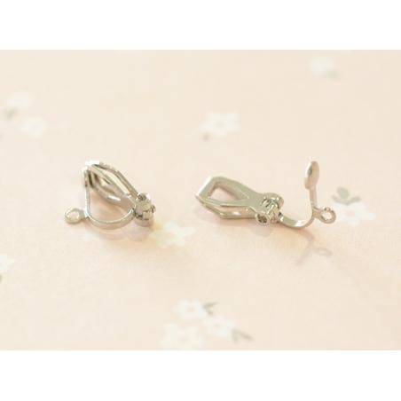 Acheter 1 paire de boucles d'oreilles clip - argenté - 0,39€ en ligne sur La Petite Epicerie - Loisirs créatifs