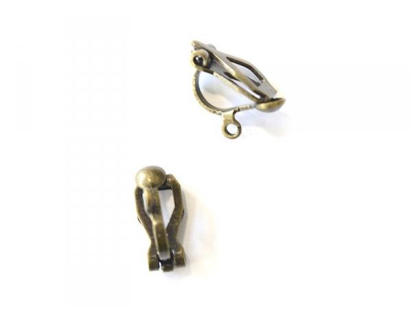 Acheter 1 paire de boucles d'oreilles clip - bronze - 0,39€ en ligne sur La Petite Epicerie - 100% Loisirs créatifs