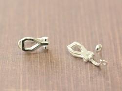 1 paire de boucles d'oreilles clip - argenté clair