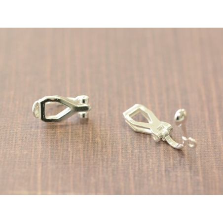 1 pair of clip-on earrings - light silver-coloured