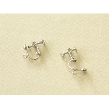 Acheter 1 paire de boucles d'oreilles clip à vis - argenté foncé - 1,09€ en ligne sur La Petite Epicerie - 100% Loisirs créa...