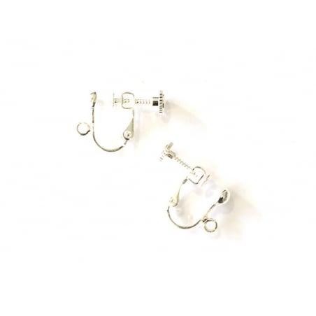 Acheter 1 paire de boucles d'oreilles clip à vis - argenté clair - 1,09€ en ligne sur La Petite Epicerie - 100% Loisirs créa...