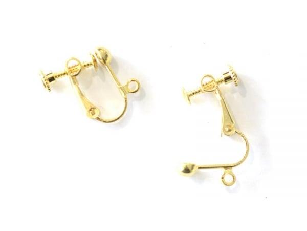 Acheter 1 paire de boucles d'oreilles clip à vis - doré - 1,09€ en ligne sur La Petite Epicerie - Loisirs créatifs