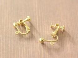 1 paire de boucles d'oreilles clip à vis - doré