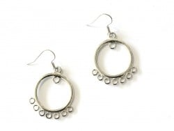 1 pair of earrings with jump rings - silver-coloured