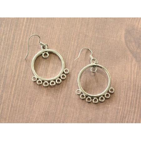 Acheter 1 paire de boucles d'oreilles à anneaux intercalaires - argenté - 4,35€ en ligne sur La Petite Epicerie - 100% Loisi...