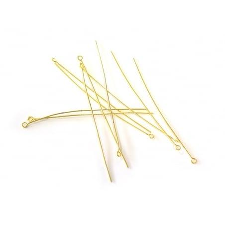 Acheter 5 clous à oeil 40 mm - dorés à l'or fin 18K - 0,99€ en ligne sur La Petite Epicerie - 100% Loisirs créatifs