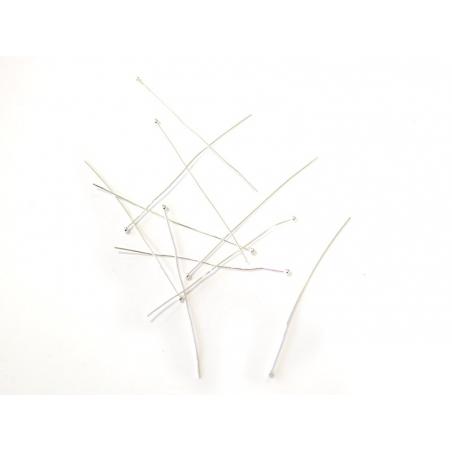 Acheter 10 clous à tête boule argenté clair - 50 mm - 0,49€ en ligne sur La Petite Epicerie - Loisirs créatifs