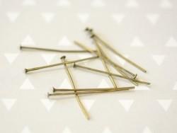 Acheter 10 clous à tête plate bronze - 30 mm - 0,19€ en ligne sur La Petite Epicerie - Loisirs créatifs