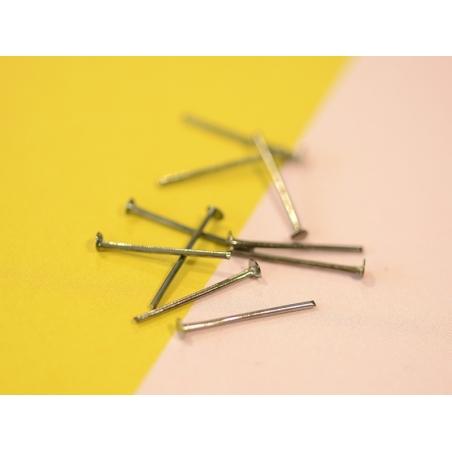 Acheter 10 clous à tête plate argenté foncé - 16 mm - 0,19€ en ligne sur La Petite Epicerie - 100% Loisirs créatifs