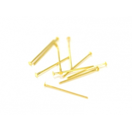 Acheter 10 clous à tête plate doré - 20 mm - 1,09€ en ligne sur La Petite Epicerie - Loisirs créatifs