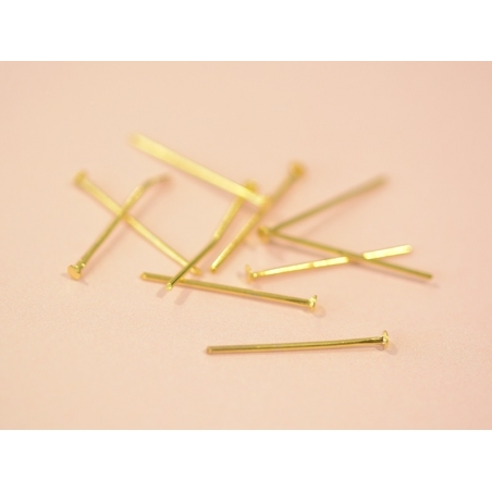 Acheter 10 clous à tête plate doré - 20 mm - 0,19€ en ligne sur La Petite Epicerie - 100% Loisirs créatifs