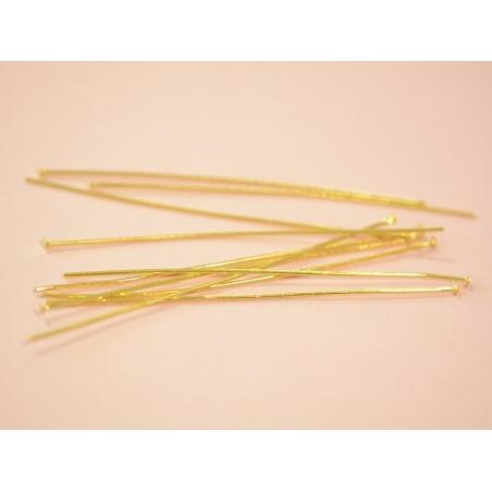 Acheter 10 clous à tête plate doré - 70 mm - 0,59€ en ligne sur La Petite Epicerie - 100% Loisirs créatifs
