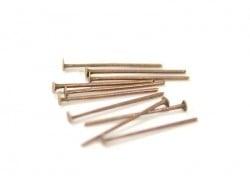 10 clous à tête plate cuivré - 20 mm  - 1