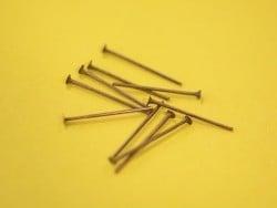 10 clous à tête plate cuivré - 20 mm
