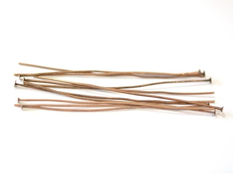 10 clous à tête plate cuivré - 70 mm