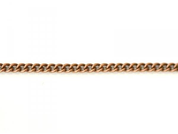 1m chaîne gourmette cuivré - 1mm